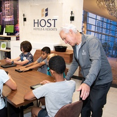 Host employees visited Junior Achievement's newest Finance Park in Montgomery County
