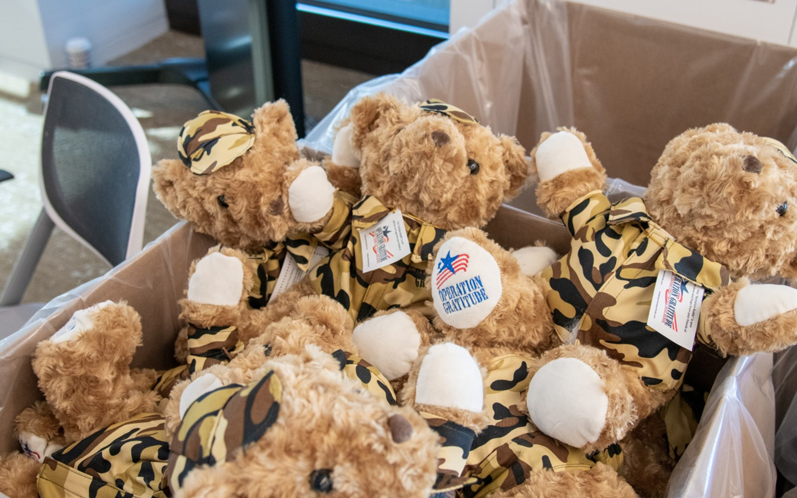 Volunteers assembled Battalion Buddy Bears, made paracord bracelets and wrote letters of gratitude