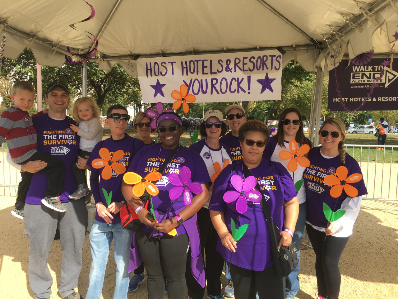 Employees attended the 2019 Walk to End Alzheimer's on the National Mall