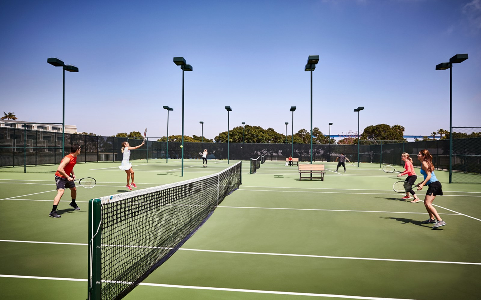 Wellness Center tennis courts