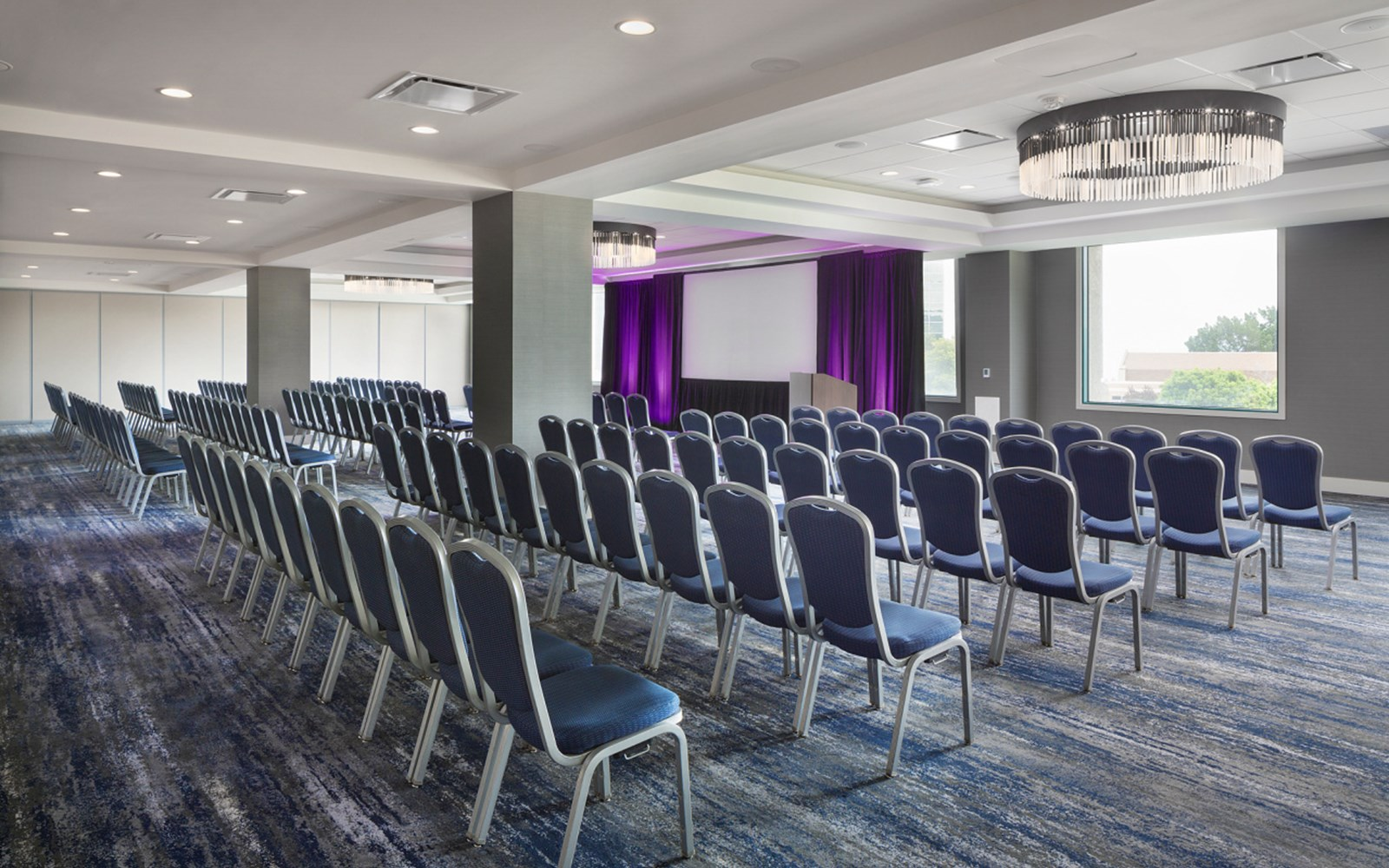Sequoia B meeting room in theater style setup