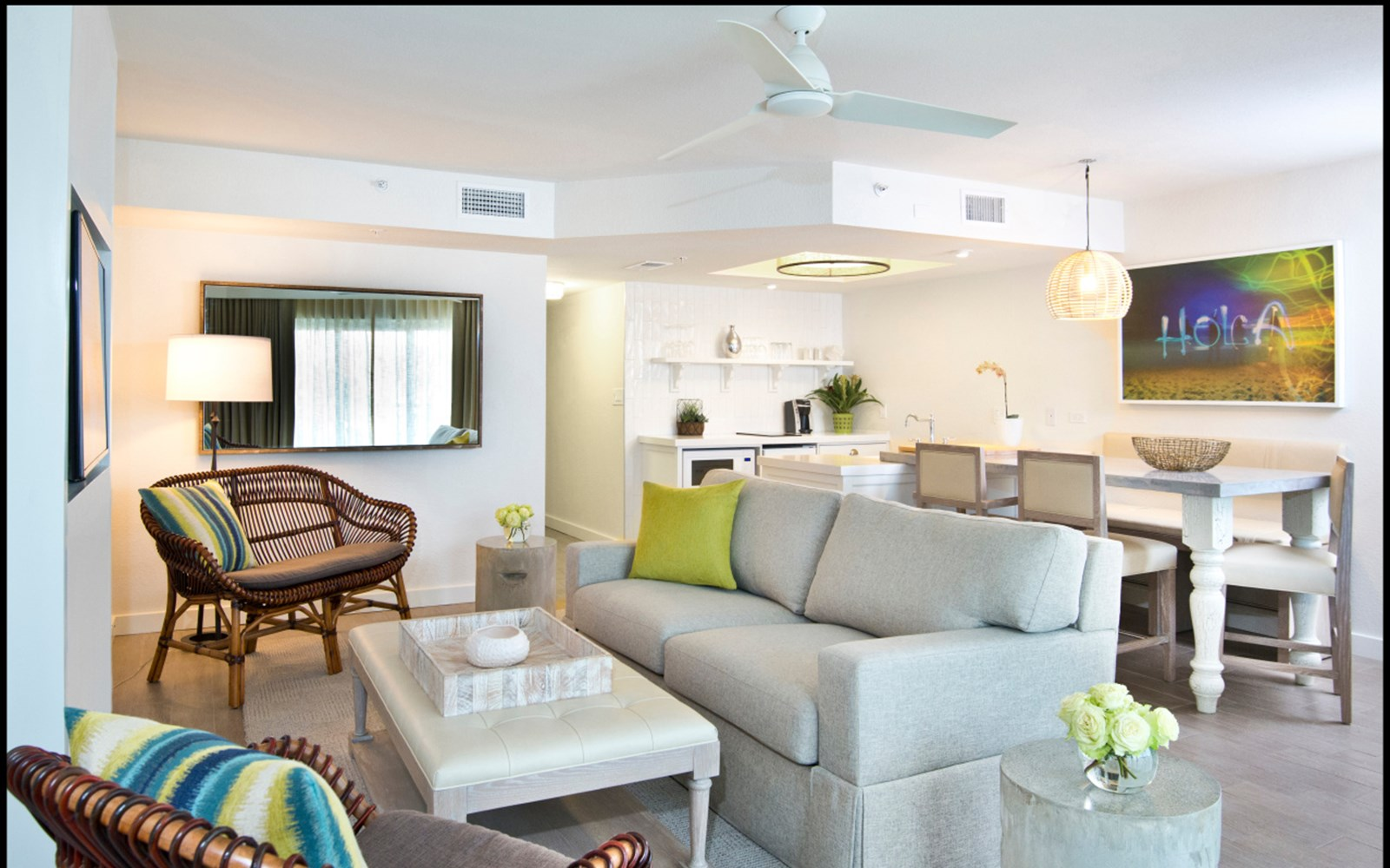 Living Room in Beach House Suites